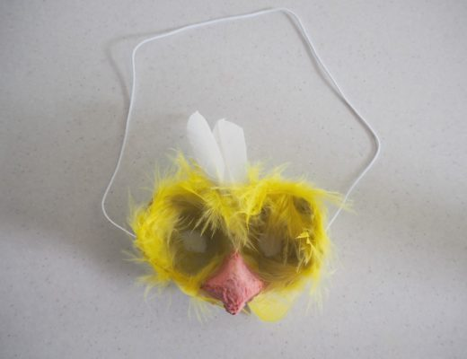 Easter Egg Carton chick Mask