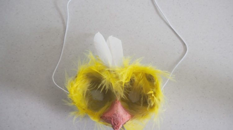 Easter Craft: Egg Carton Chick Mask
