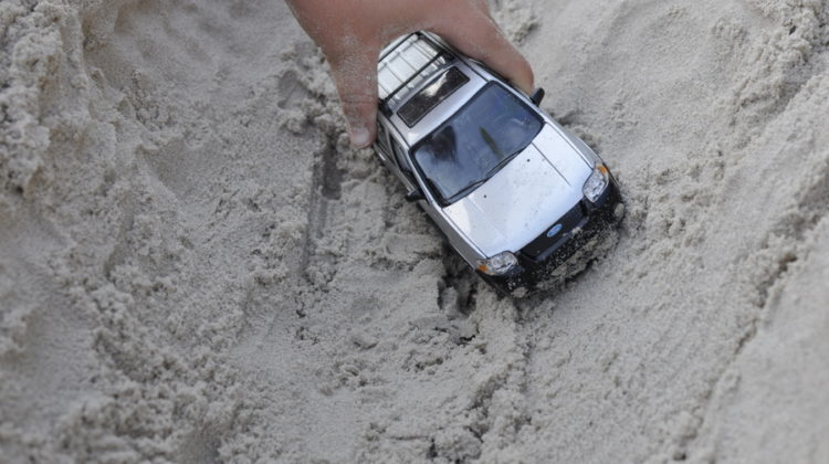 Toy Cars in the Backyard: Off-Roading Inspired Play