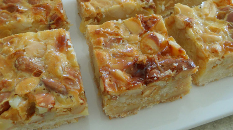 Caramel and Nut Slice