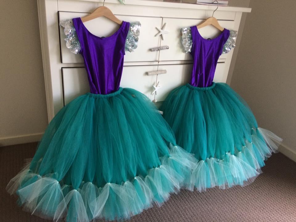 Little Mermaid Inspired Tutu Dresses - Australia