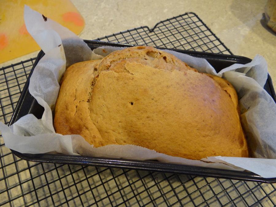 10 minute banana bread