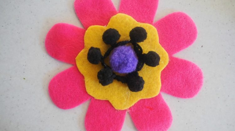 Felt Flower Brooches For Mother's Day