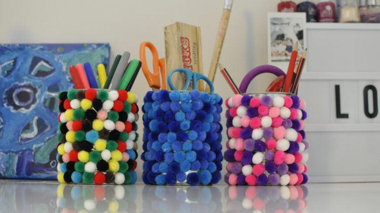Pom Pom Pen Holders
