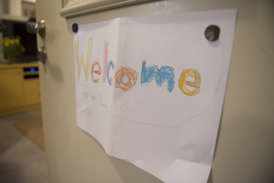 Welcome child's drawing