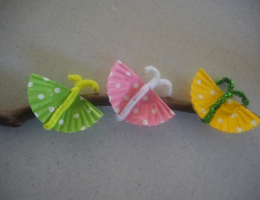 butterflies on a stick craft