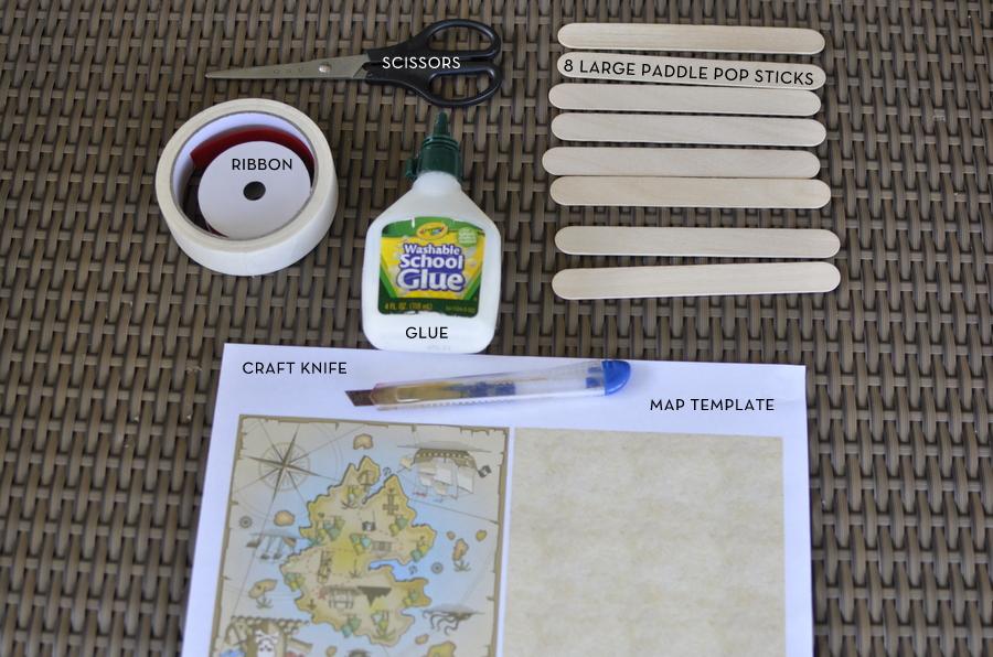 paddle pop stick craft - foldable map