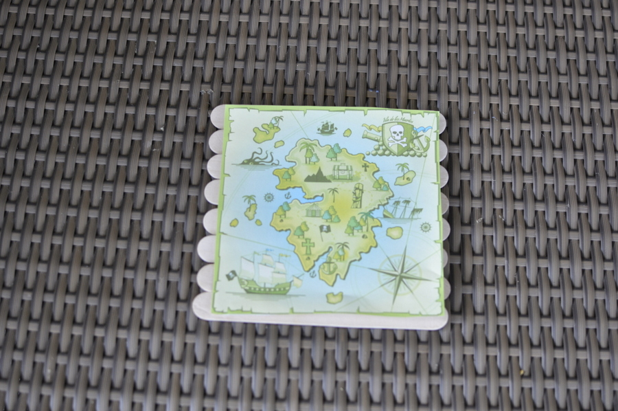 Cool paddle pop stick treasure map - foldable!