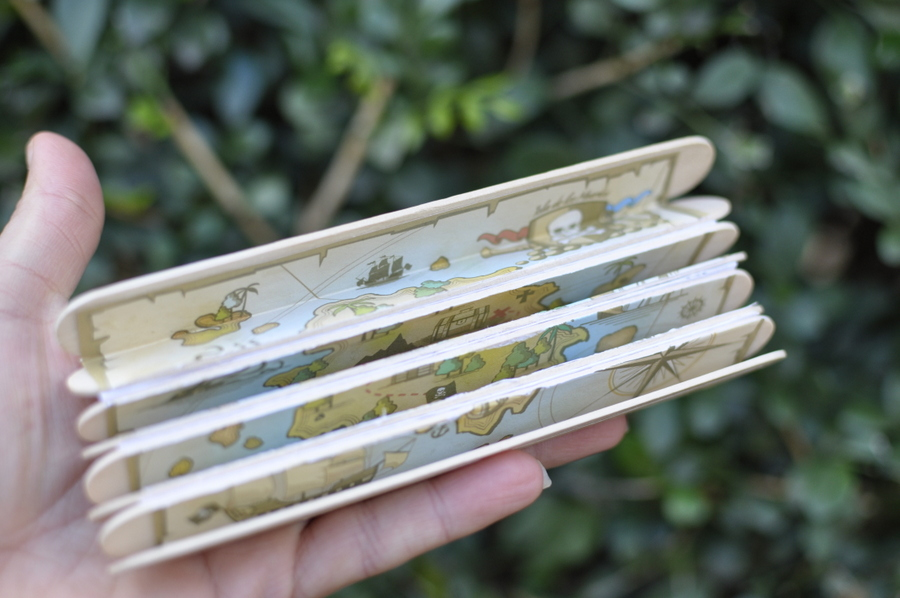 Cool paddle pop stick treasure map - foldable!
