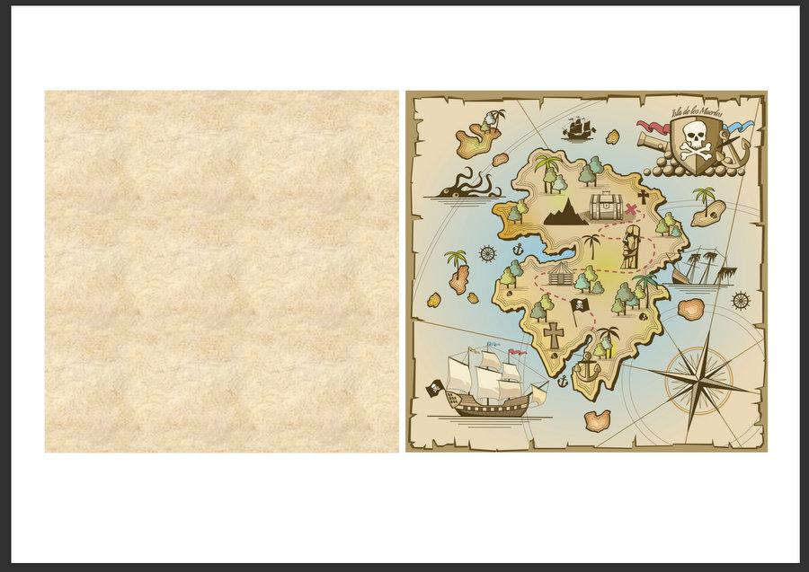 Cool paddle pop stick treasure map - foldable - template