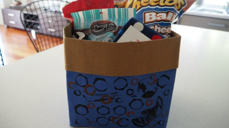 Father's Day Gift Idea: Dad's Storage Cube of Treats