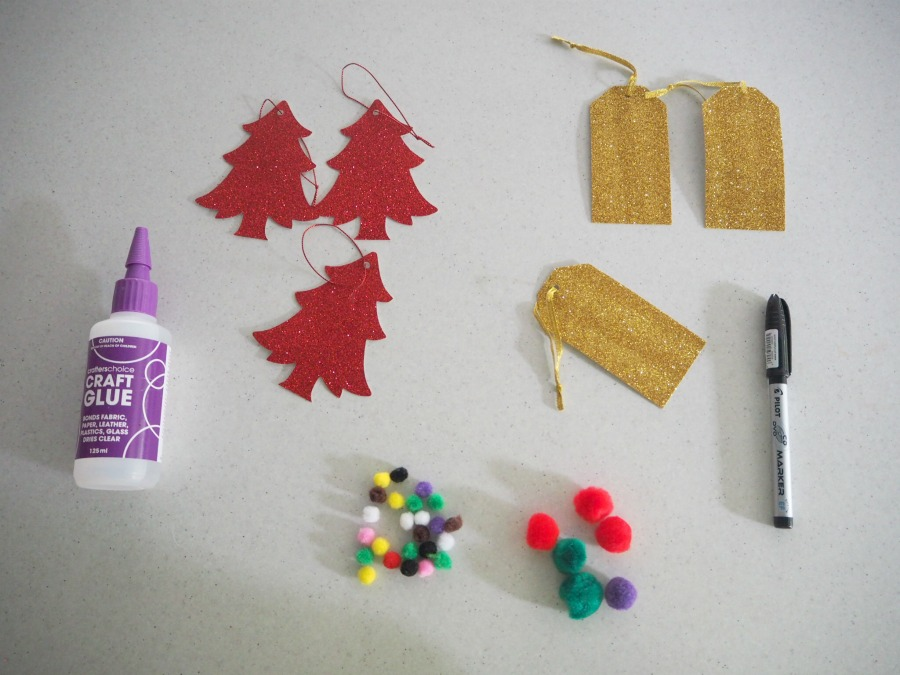 christmas gift tags materials
