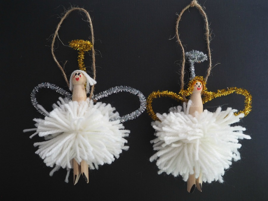 pom pom angel decoration