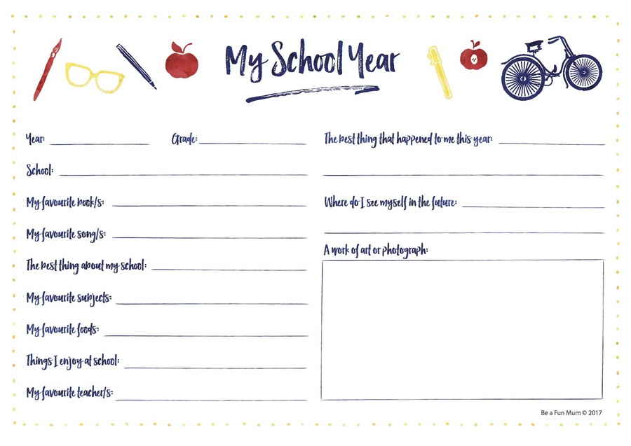 Be a Fun Mum - My School Year