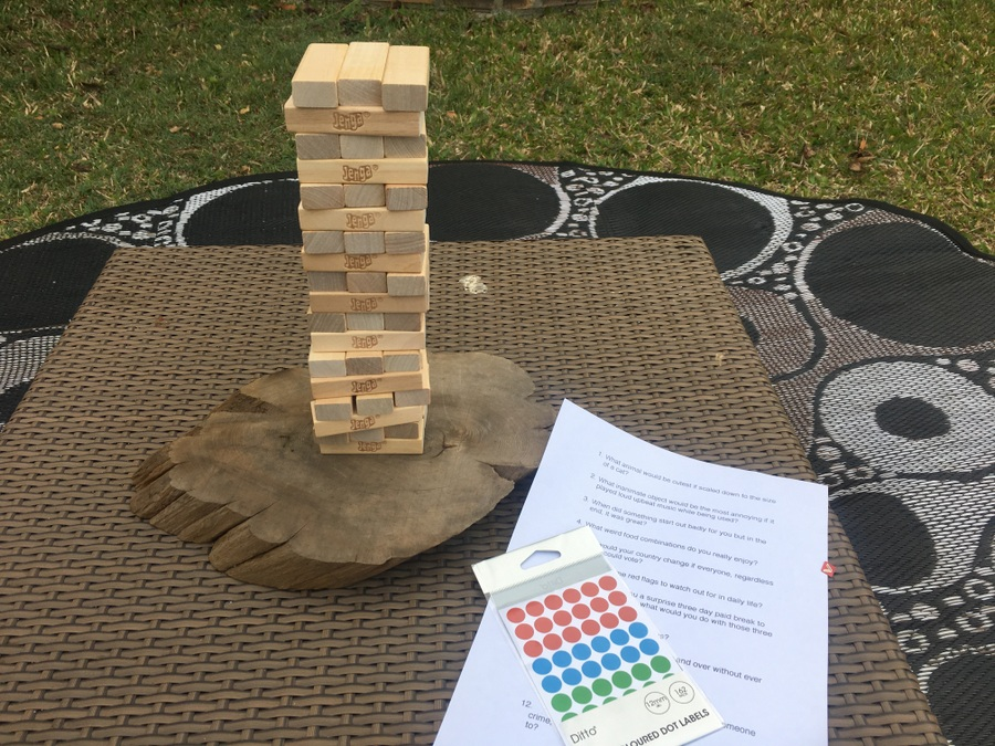 Jenga Get to Know you Game
