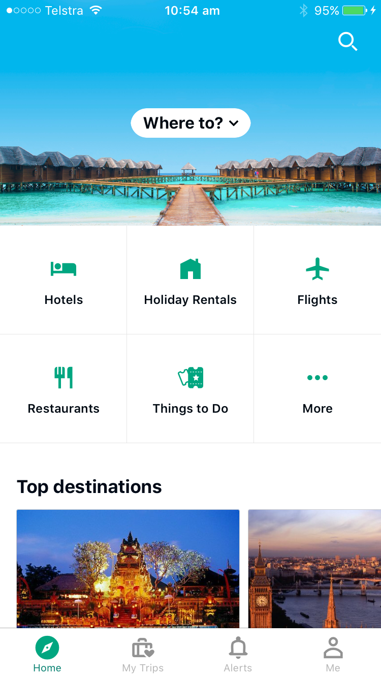 Planning a family holiday with TripAdvisor - app