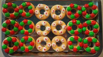 Simple Christmas Wreath Rice Cookies