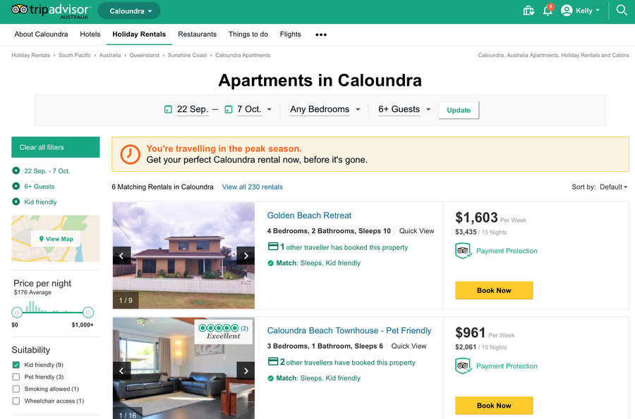 Planning a family holiday with TripAdvisor