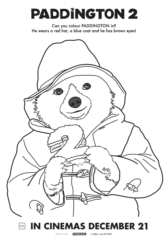 Paddington 2 Colouring Page