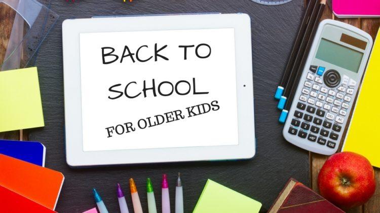 Back to school for older kids