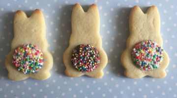 Easter Chocolate Freckle Bunny Tail Biscuits
