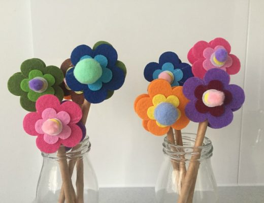 essential oil infused felt flowers for mother's day