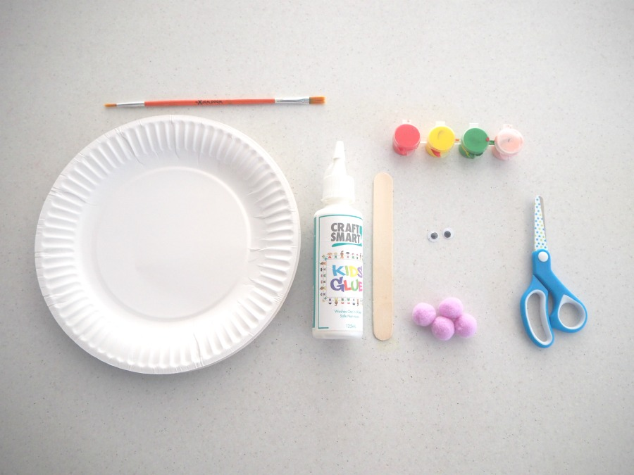 easy paper plate crafts materials