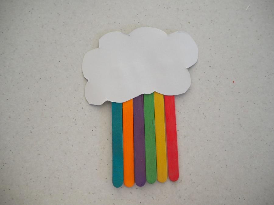Rainbow Paddle Pop Stick Craft