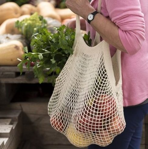 Non-Plastic bag alternatives - string-carry-bag-cotton