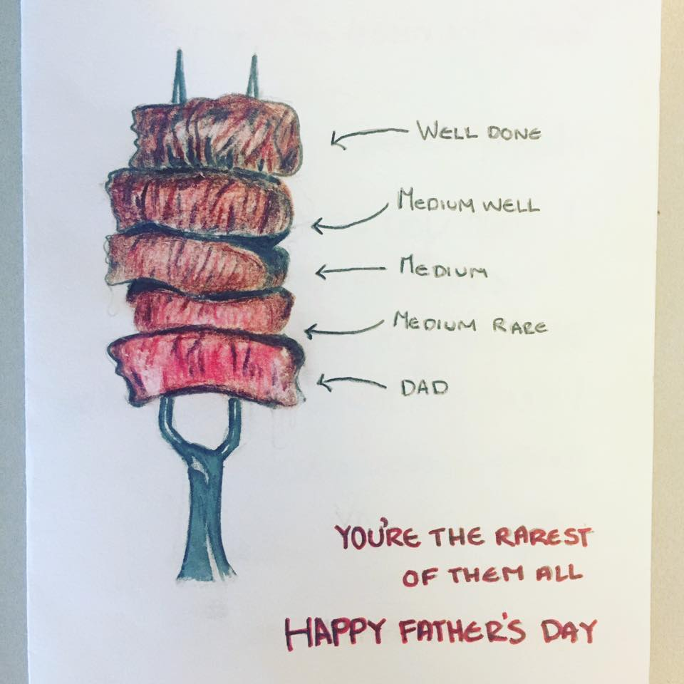 Father's Day Card Illustration