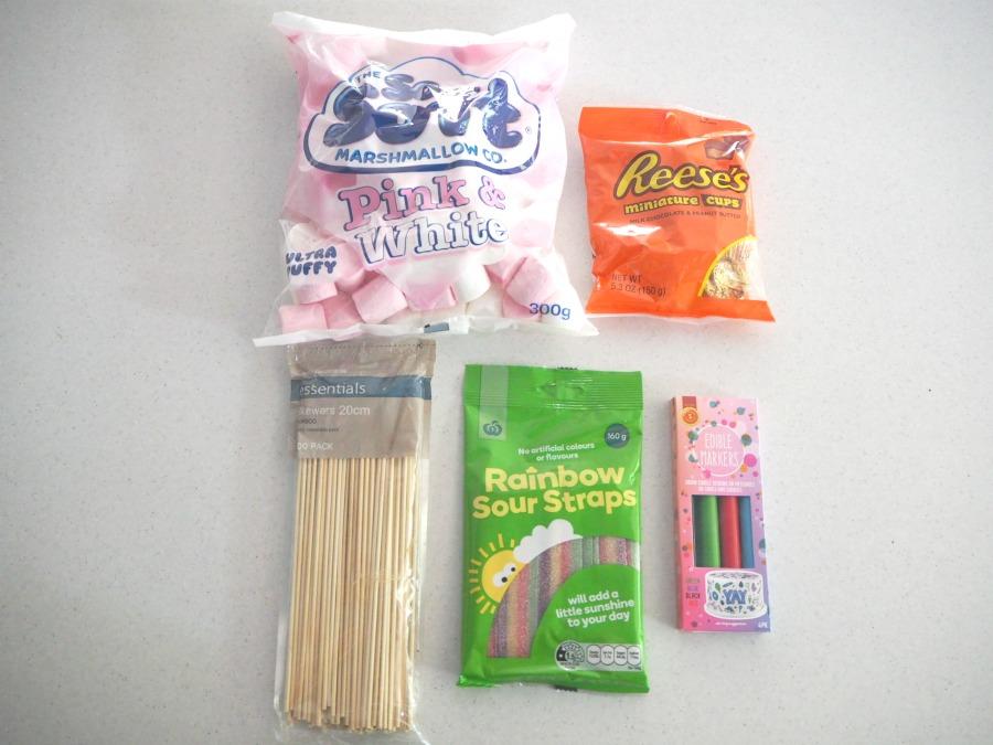 marshmallow snowman ingredients