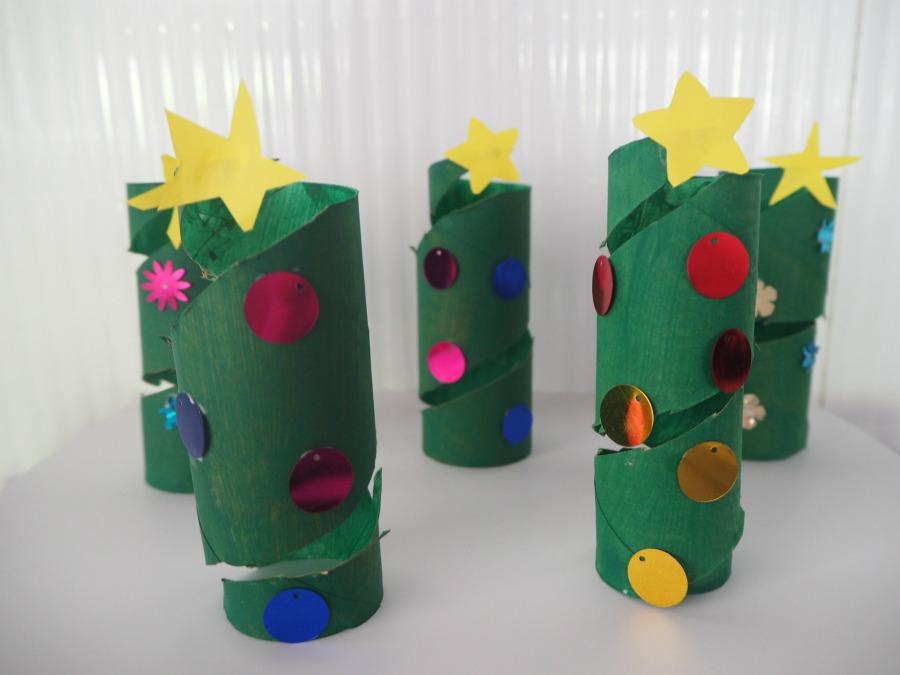 Toilet Roll Christmas Tree