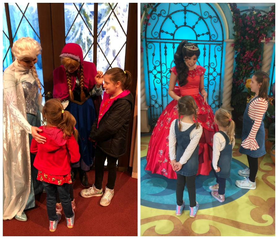 Meeting Elsa Anna and Elena