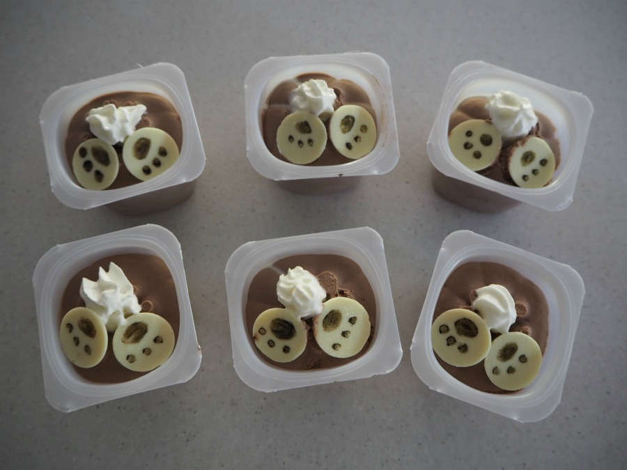 Bottoms Up Bunny Choc Mousse Cups