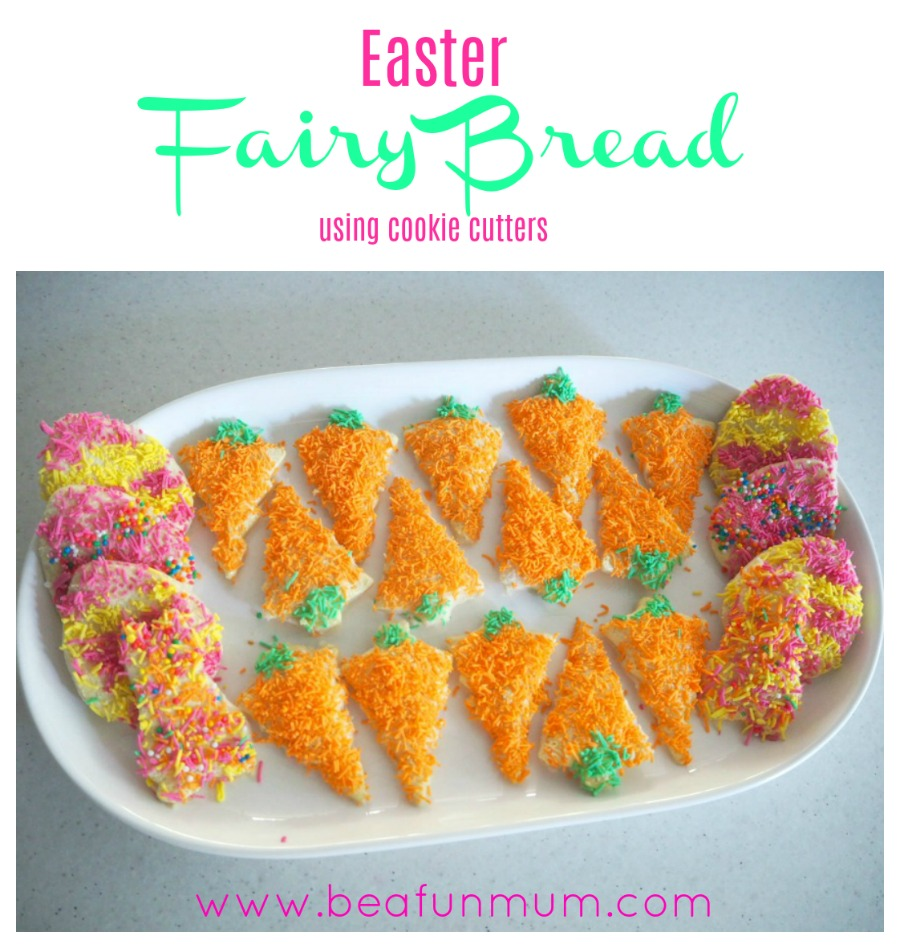 Easter Fairy Bread Using Cookie Cutters