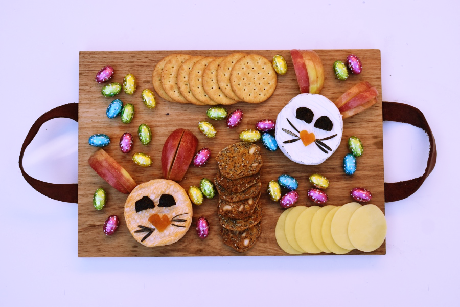 Easter Themed Cheese Platter
