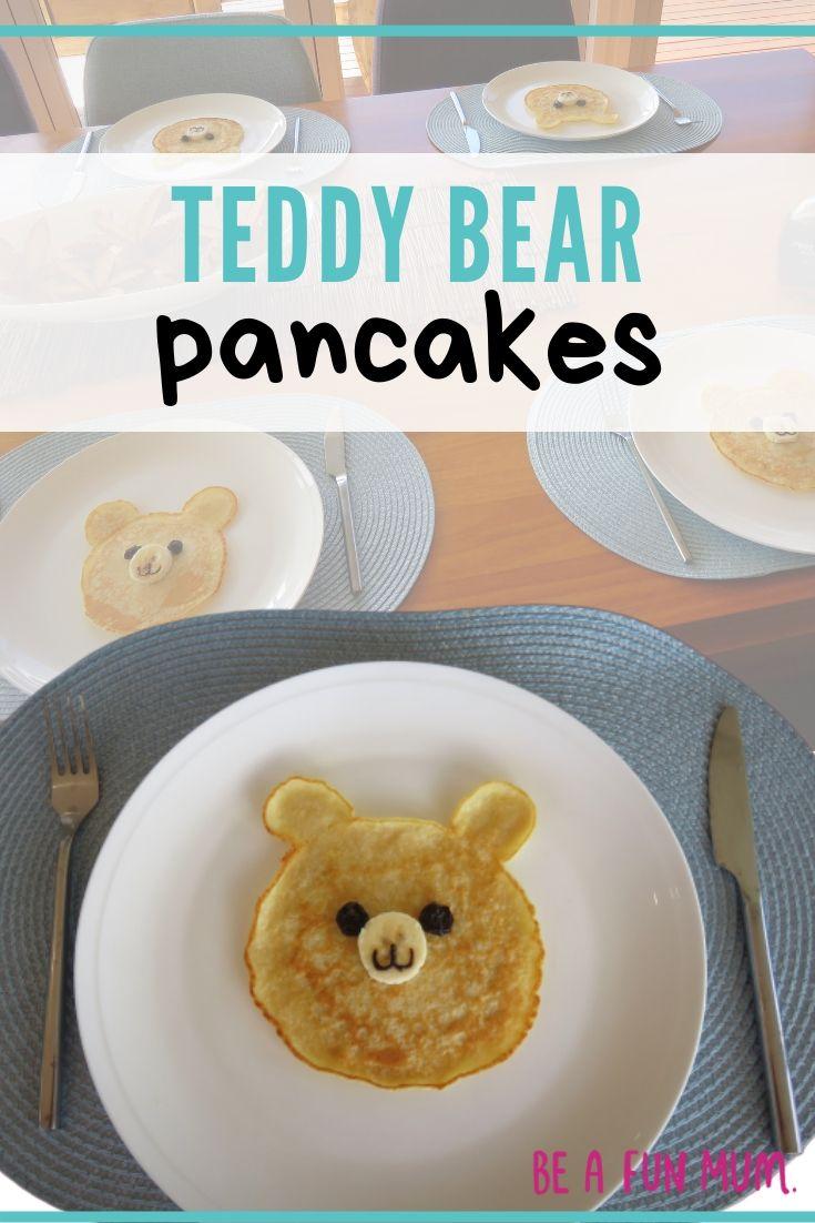 CUTE Teddy Bear pancakes