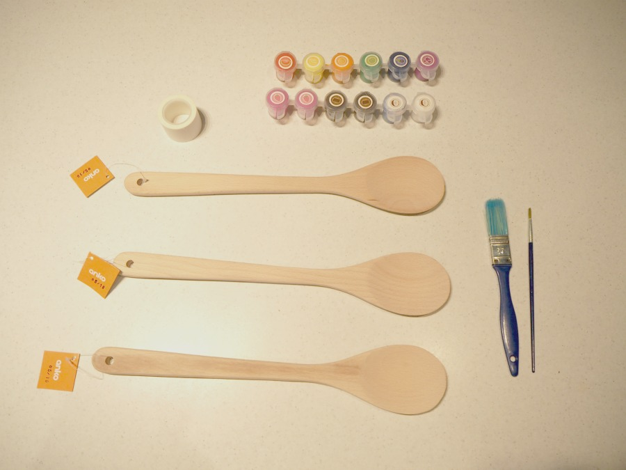 DIY Painted Wooden Spoons