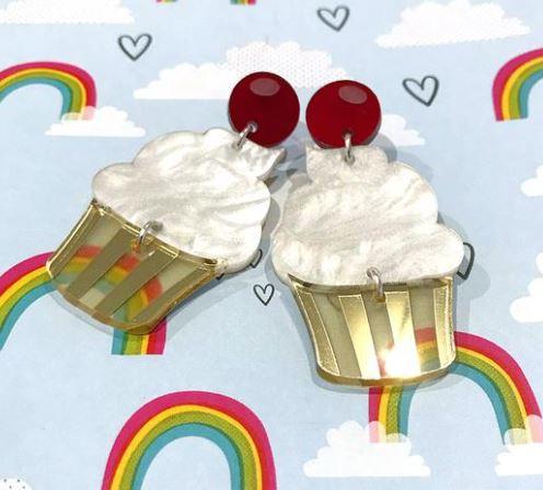 cupcake statement earrings