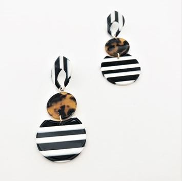 Adorne Retro Shapes statement Earrings