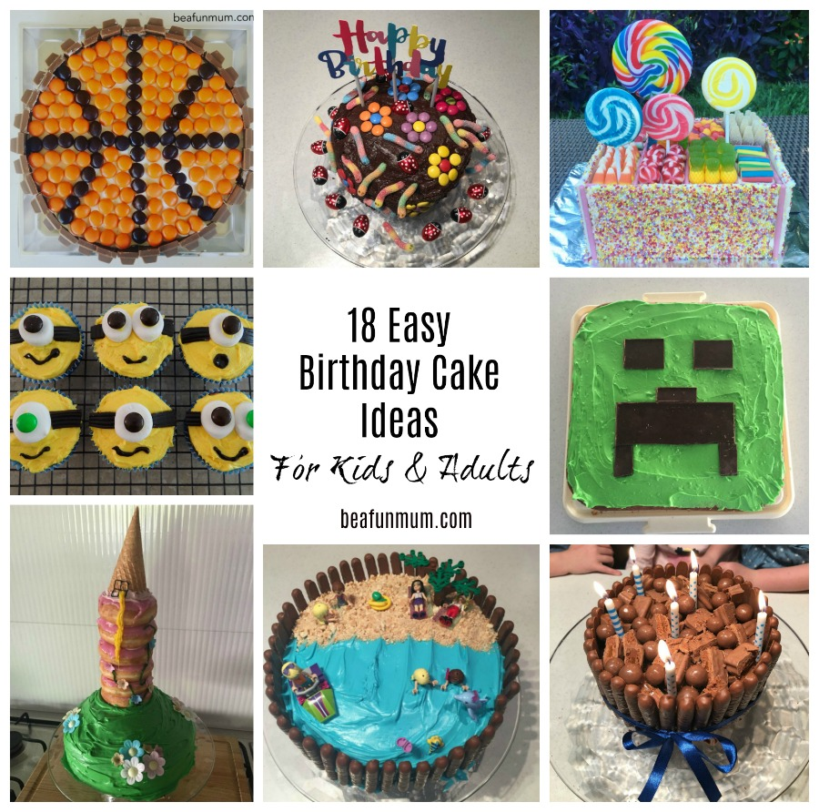18 Easy Birthday Cake Ideas