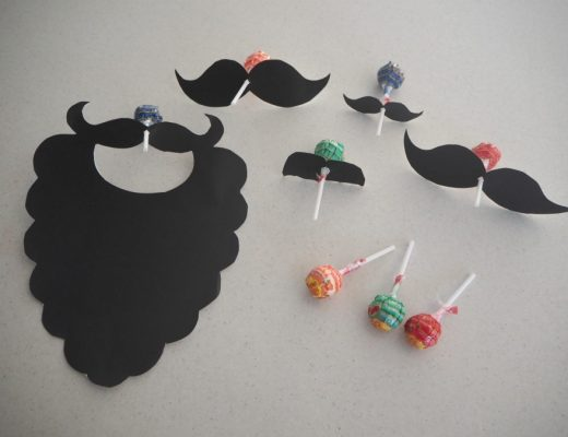 Moustache Lollipops for Father's Day