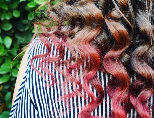 temporary pink hair dye colour