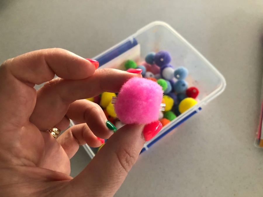 pom pom beads from Kmart
