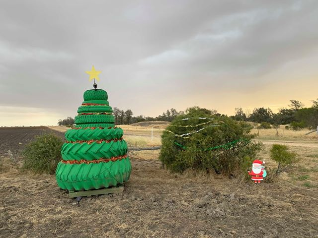 Tyre Christmas Tree