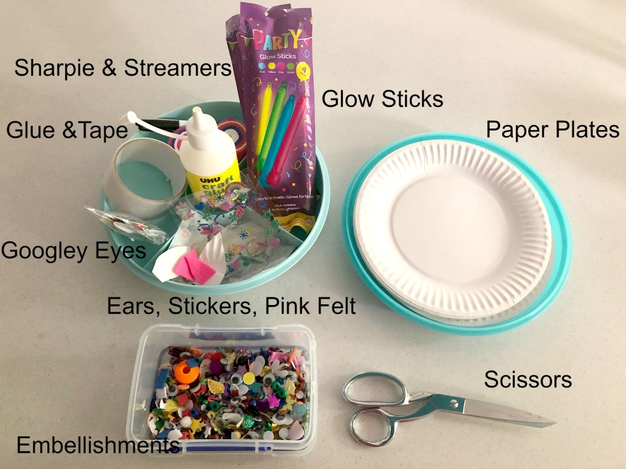 Glow stick unicorn Craft materials