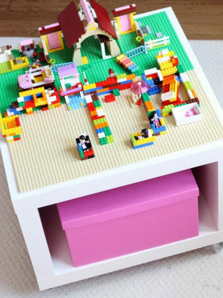 The Decorated Cookie IKEA Lego table hack