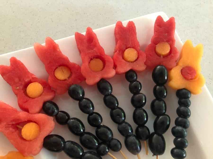 Bunny fruit kebab sticks