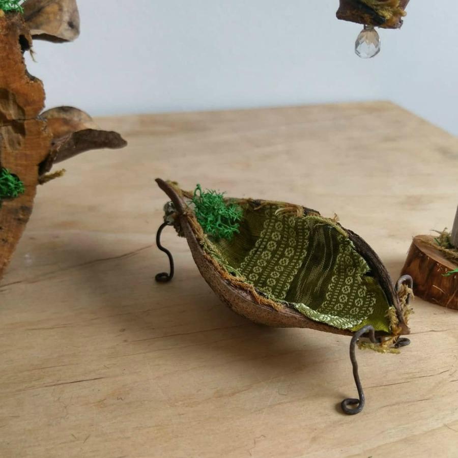 Jacaranda pod for fairy boat