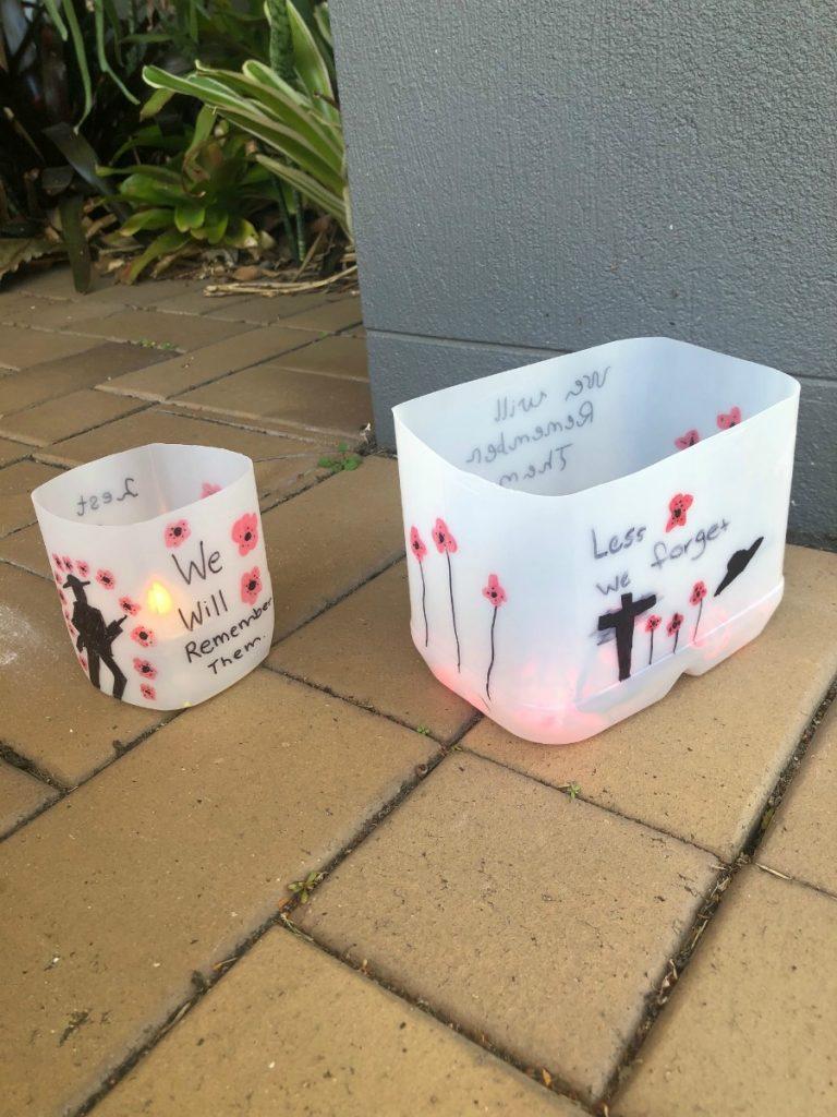 anzac carton lantern